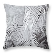 Infrared Palm Abstract Throw Pillow
