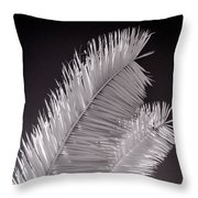 Infrared Palm Frond Throw Pillow