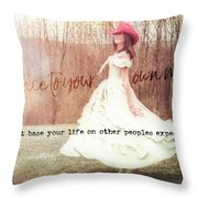 Infrared Quote Throw Pillow