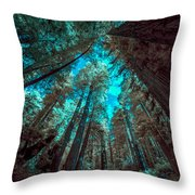 Infrared Redwood Throw Pillow