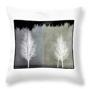 Infrared Trees With Texture Throw Pillow by Patricia Strand