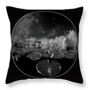 Infrared Water Garden Throw Pillow