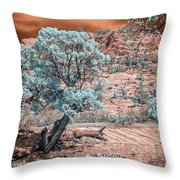 Infrared Zion Throw Pillow