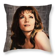 Ingrid Pitt, Vintage Actress Throw Pillow