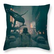 Inhabitants Throw Pillow