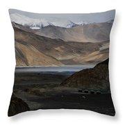Initial Vision Of Pangong Lake Throw Pillow