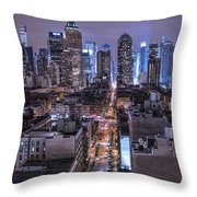 Ink 48 East Throw Pillow