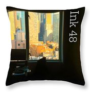 My Hotel Room Ink48 Throw Pillow