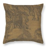 Ink Painting Landscape Throw Pillow