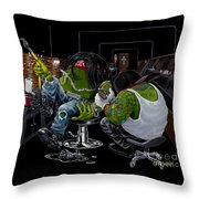 Ink Slinger Throw Pillow