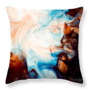 Ink Swirls 001 Throw Pillow