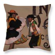 Inka Dancers Throw Pillow
