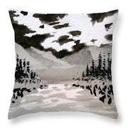 Inky Sky Throw Pillow