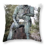 Inland Northwest Veterans Memorial Statue Throw Pillow
