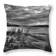 Inland Sea At Skye Throw Pillow