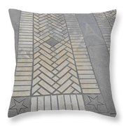 Inlayed Brick Walk Throw Pillow