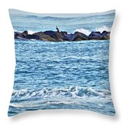 Inlet Waves Throw Pillow