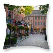 Inn Street Throw Pillow