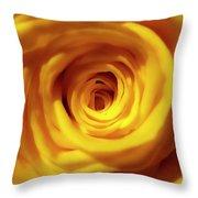 Inner Beauty Of A Rose Throw Pillow
