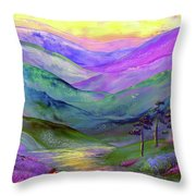 Inner Flame, Meditation Throw Pillow