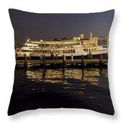 Inner Harbor Tour Boat Throw Pillow