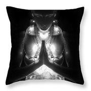 Inner Illumination - Self Portrait Throw Pillow