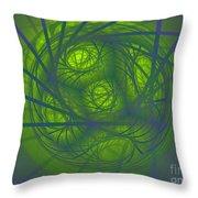 Inner Light Spiral Sanctum Throw Pillow