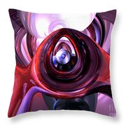 Inner Peace Abstract Throw Pillow