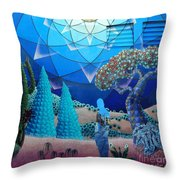 Inner Space-art On A Wall.  Throw Pillow