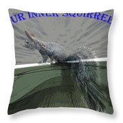 Inner Squirrel Art #1 Throw Pillow