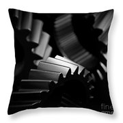 Inner Workings Black And White Throw Pillow
