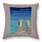 Innerthoughts Throw Pillow