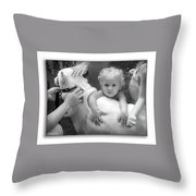 Innocence And Love Throw Pillow