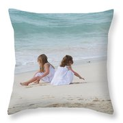 Innocence By The Sea Throw Pillow