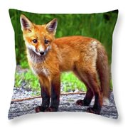 Innocence II Paint Throw Pillow