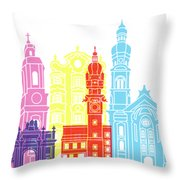 Innsbruck Skyline Pop Throw Pillow