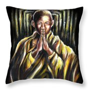 Inori Prayer Throw Pillow