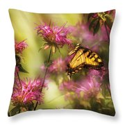 Insect - Butterfly - Golden Age  Throw Pillow