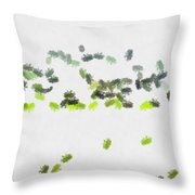 Insects Marching All Over Throw Pillow