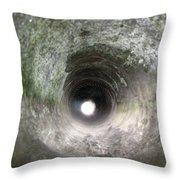 Inside A 20mm Submarine Deck Gun Barrel Throw Pillow