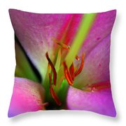 Inside A Lily Throw Pillow