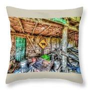 Inside Barn Throw Pillow