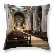 Inside Beautiful Church In Rome Throw Pillow