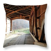 Inside Big Rocky Fork Bridge Throw Pillow