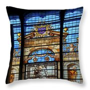 Inside Chantilly Castle France Throw Pillow