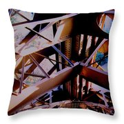 Inside Eiffel Throw Pillow