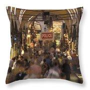 Inside Istanbuls Grand Bazaar Throw Pillow