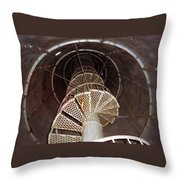Inside Looking Up - Matagorda Island Lighthouse Throw Pillow