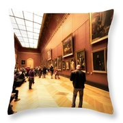 Inside Louvre Museum  Throw Pillow by Charuhas Images
