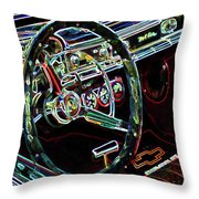 Inside Of A Classic Car Throw Pillow
